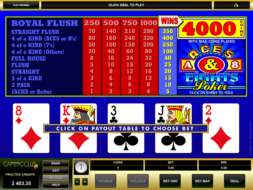 Aces and eights slot