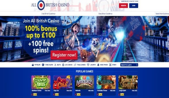 AllBritishCasino Screenshot