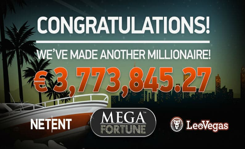 Lucky Player Hits a €3.7m Jackpot With Mega Fortune at LeoVegas Casino