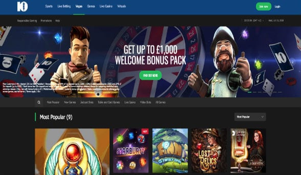 10Bet Casino screenshot