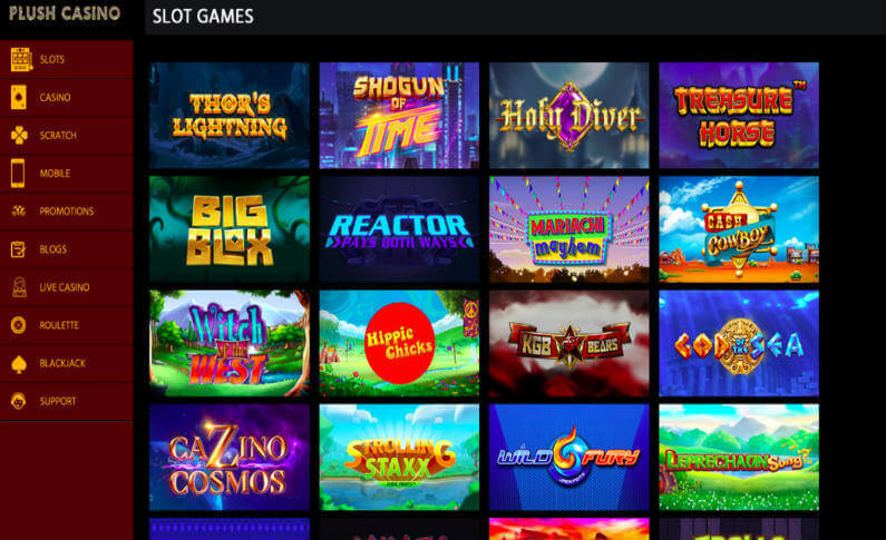 Play the Most Popular and Exclusive Games at Plush Casino